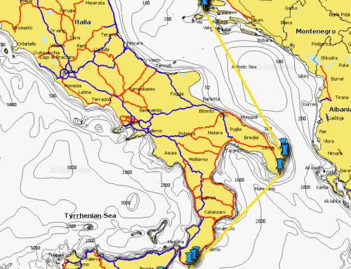 Vorbereitung zum Törn von Split nach Sizilien durch die Adria